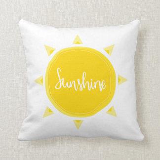 Almofada Travesseiro amarelo da luz do sol |