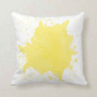 Almofada Travesseiro amarelo do Splatter