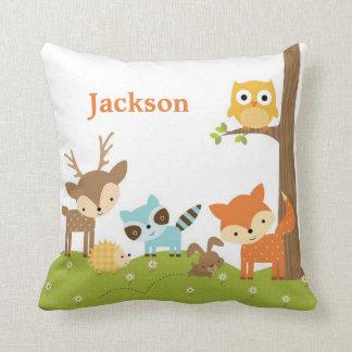 Almofada Travesseiro animal do berçário da floresta bonito