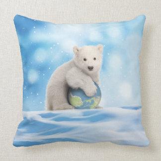 Almofada Travesseiro ártico do mundo do urso polar