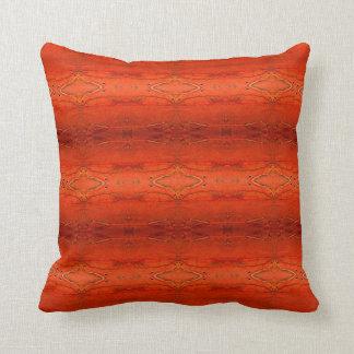 Almofada Travesseiro asteca alaranjado rústico do teste
