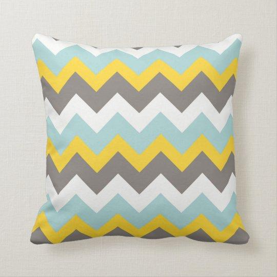 d8161d8e90678f Almofada Travesseiro azul, amarelo, cinzento, branco do