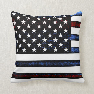 Almofada Travesseiro azul branco vermelho patriótico da