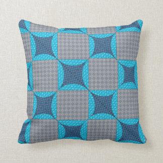 Almofada Travesseiro azul da edredão do diamante