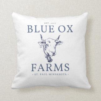 Almofada Travesseiro azul das fazendas do boi