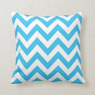 Almofada Travesseiro azul do amor de Chevron