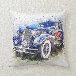 Almofada Travesseiro azul do carro vintage