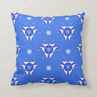 Almofada travesseiro azul do design do teste padrão do