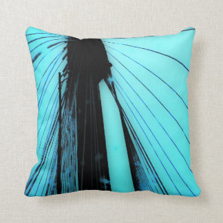 Almofada Travesseiro azul do lance do cabo da ponte