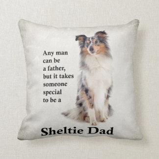 Almofada Travesseiro azul do pai de Merle Sheltie