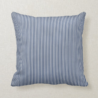 Almofada Travesseiro azul e branco da listra