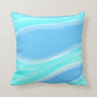 Almofada Travesseiro azul e ciano