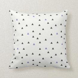 Almofada Travesseiro azul e preto dos triângulos