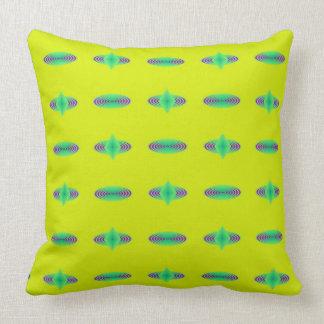 Almofada Travesseiro azul e verde amarelo dos redemoinhos