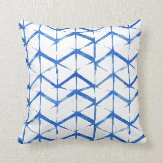 Almofada Travesseiro azul ecléctico da tintura do laço de