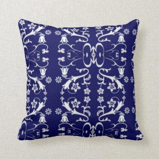 Almofada Travesseiro azul elegante do Batik