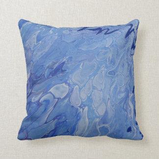 Almofada Travesseiro azul/pintura acrílica/pintura abstrata