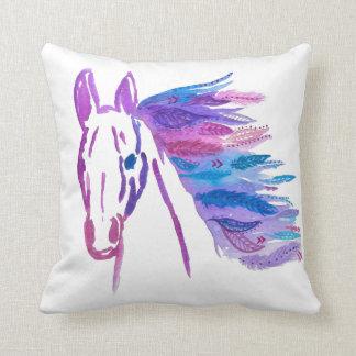 Almofada Travesseiro boémio do cavalo por Megaflora