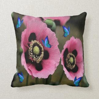 Almofada Travesseiro bonito das flores e das borboletas da