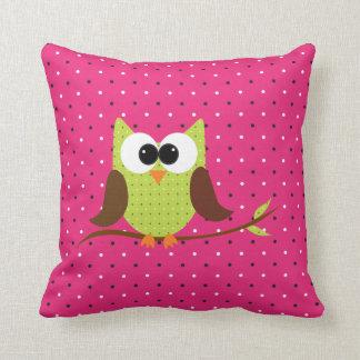 Almofada Travesseiro bonito do acento dos miúdos da coruja