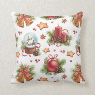 Almofada Travesseiro bonito do quadrado do Natal