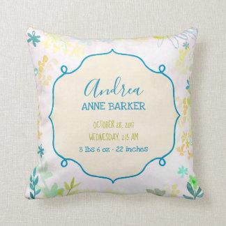 Almofada Travesseiro botânico do bebê do botão luxúria