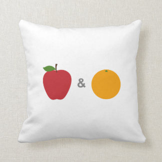 Almofada Travesseiro (branco) das maçãs & das laranjas
