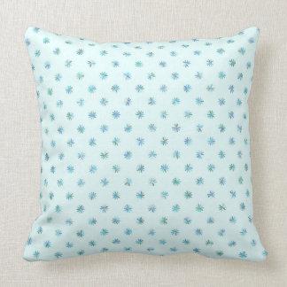 Almofada Travesseiro branco e azul das flores