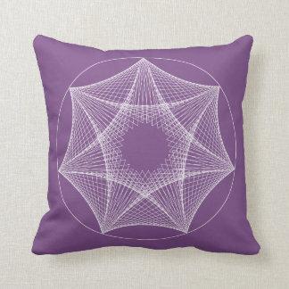 Almofada Travesseiro branco geométrico da estrela