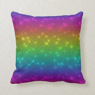 Almofada Travesseiro brilhante dos Sparkles do arco-íris