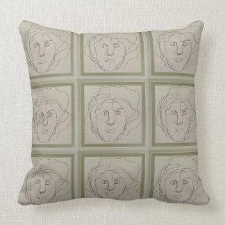 Almofada Travesseiro cego do desenho do contorno