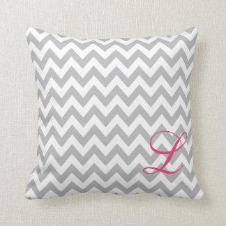Almofada Travesseiro cinzento e branco do berçário do