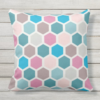 Almofada Travesseiro colorido com teste padrão geométrico