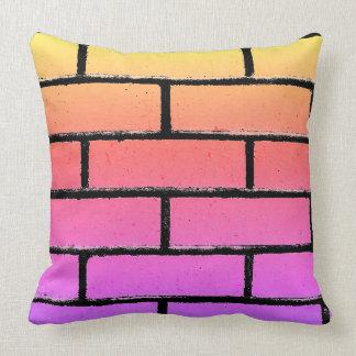 Almofada Travesseiro colorido da parede de tijolo
