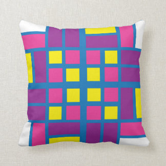 Almofada Travesseiro colorido do azulejo do parquet
