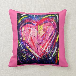 Almofada Travesseiro colorido do coração