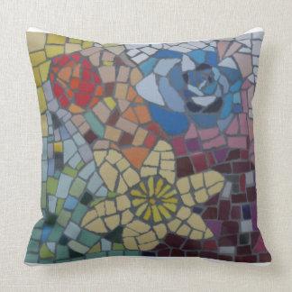 Almofada Travesseiro colorido do mosaico das flores do
