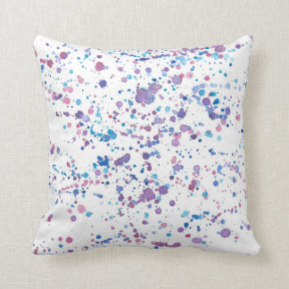 Almofada Travesseiro colorido do teste padrão do Splotch da