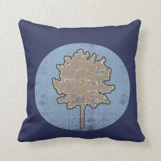 Almofada Travesseiro colorido retro do símbolo da árvore