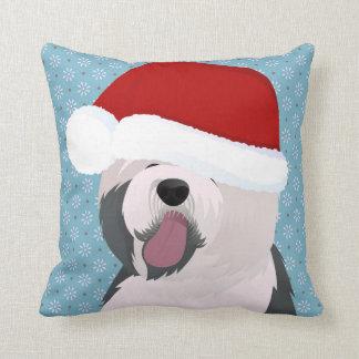 Almofada Travesseiro com o Sheepdog inglês velho