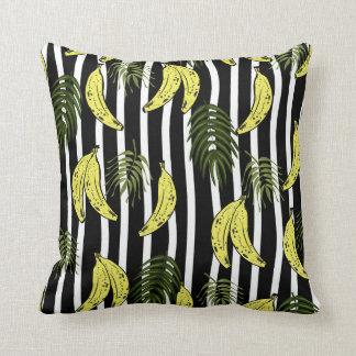 Almofada Travesseiro com teste padrão da banana e das