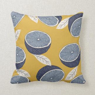 Almofada Travesseiro com teste padrão do limão