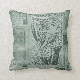 Almofada Travesseiro cómico do vintage