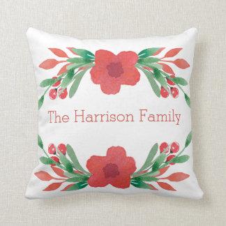 Almofada Travesseiro conhecido personalizado flores do