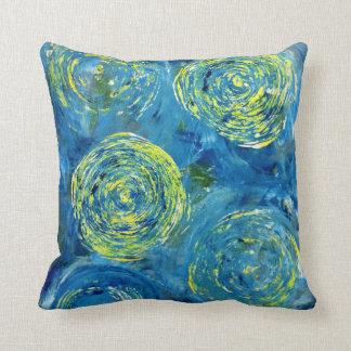 Almofada Travesseiro contemporâneo azul