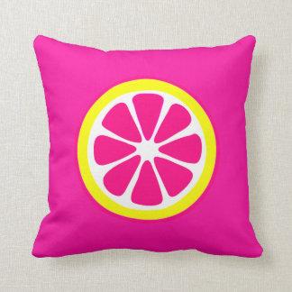 Almofada Travesseiro cor-de-rosa & amarelo do acento da