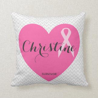 Almofada Travesseiro cor-de-rosa conhecido personalizado da