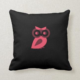 Almofada Travesseiro cor-de-rosa da coruja