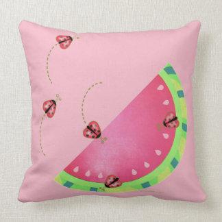 Almofada Travesseiro (cor-de-rosa) da melancia do joaninha