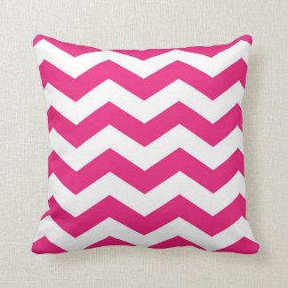 Almofada Travesseiro cor-de-rosa do amor de Chevron